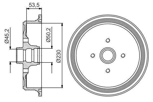 BOSCH  0 986 477 160 Bremstrommel Br.Tr.Durchmesser außen: 290mm