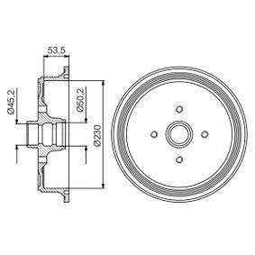 Bremstrommel Br.Tr.Durchmesser außen: 290mm mit OEM-Nummer 443 501 615