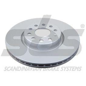 Bremsscheibe Bremsscheibendicke: 25,00mm, Felge: 5,00-loch, Ø: 312mm mit OEM-Nummer 5N0615301