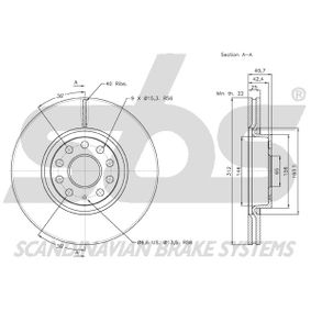 Bremsscheibe Bremsscheibendicke: 25mm, Felge: 5-loch, Ø: 312mm mit OEM-Nummer 5N0615301