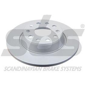Спирачен диск дебелина на спирачния диск: 12,00мм, джанта: 5,00-дупки, Ø: 282мм с ОЕМ-номер 1K0615601AD