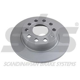 Bremsscheibe Bremsscheibendicke: 10,00mm, Felge: 5,00-loch, Ø: 253mm mit OEM-Nummer 1K0615601AB