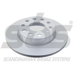 Bremsscheibe Bremsscheibendicke: 12mm, Felge: 5-loch, Ø: 256mm mit OEM-Nummer 1K0 615 601 AC
