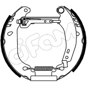 Bremsbackensatz Breite: 40mm mit OEM-Nummer 7701205095