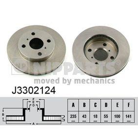 Bremsscheibe Bremsscheibendicke: 18mm, Lochanzahl: 4, Ø: 235mm mit OEM-Nummer 43512 52010