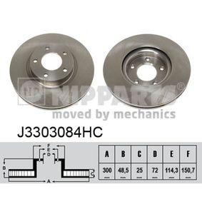 Brake Disc Brake Disc Thickness: 25mm, Num. of holes: 5, Ø: 300mm with OEM Number C26Y3-32-5XD