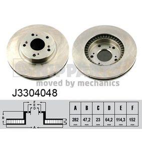 féktárcsa Ø: 282mm, Belső hűtésű J3304048
