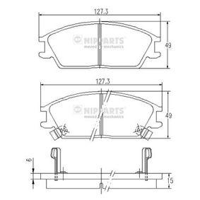Bremsbelagsatz, Scheibenbremse Dicke/Stärke: 15mm mit OEM-Nummer 58101 25A10
