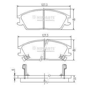 Bremsbelagsatz, Scheibenbremse Dicke/Stärke: 15mm mit OEM-Nummer 58101-1CA10