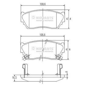 Bremsbelagsatz, Scheibenbremse Dicke/Stärke: 16,5mm mit OEM-Nummer 41060 50Y90