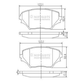 Bremsbelagsatz, Scheibenbremse Dicke/Stärke: 17,3mm mit OEM-Nummer 04465 42 130