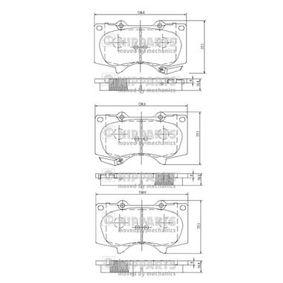 Bremsbelagsatz, Scheibenbremse Höhe: 77,1mm, Dicke/Stärke: 17mm mit OEM-Nummer 04465 35290