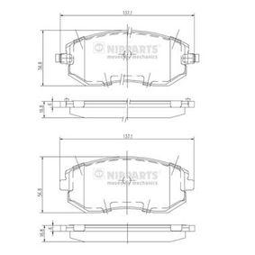 Bremsbelagsatz, Scheibenbremse J3607015 IMPREZA Schrägheck (GR, GH, G3) 2.5 WRX S AWD Bj 2010