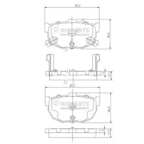 Bremsbelagsatz, Scheibenbremse Dicke/Stärke: 13,7mm mit OEM-Nummer 58202 28A00