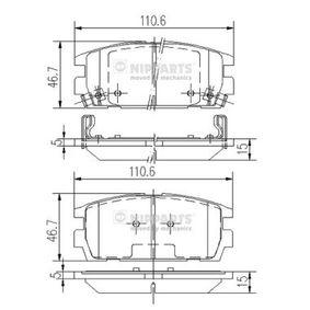 Bremsbelagsatz, Scheibenbremse Höhe: 45,5mm, Dicke/Stärke: 15mm mit OEM-Nummer 58302 H1A00