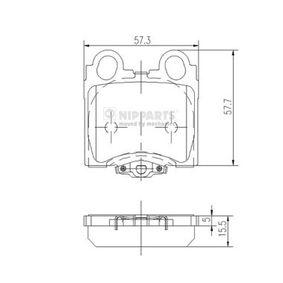 Bremsbelagsatz, Scheibenbremse J3612017 GS (UZS161, JZS160) 3.0 Bj 2001