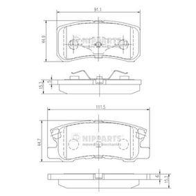 Kit pastiglie freno, Freno a disco (J3615010) per per Pompa Iniezione MITSUBISHI PAJERO III Fuoristrada aperto (V6_W, V7_W) 3.2 DI-D (V68W, V78W) dal Anno 04.2000 165 CV di NIPPARTS