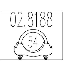 Golf 5 2.0SDI Auspuffschelle MTS 02.8188 (2.0 SDI Diesel 2007 BDK)