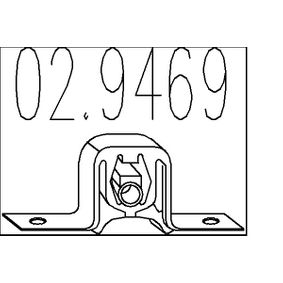 Nissan Almera Tino 2.2dCi Halter, Abgasanlage MTS 02.9469 (2.2 dCi Diesel 2006 YD22DDT)