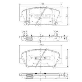 Bremsbelagsatz, Scheibenbremse Dicke/Stärke: 16,9mm mit OEM-Nummer 581012MA00