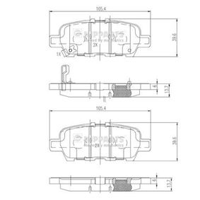 Nissan X Trail t30 2.2dCi 4x4 Bremsbeläge NIPPARTS N3611051 (2.2dCi Diesel 2012 YD22DDTi)