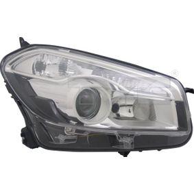 2008 Nissan Qashqai j10 1.6 Headlight 20-12319-05-2