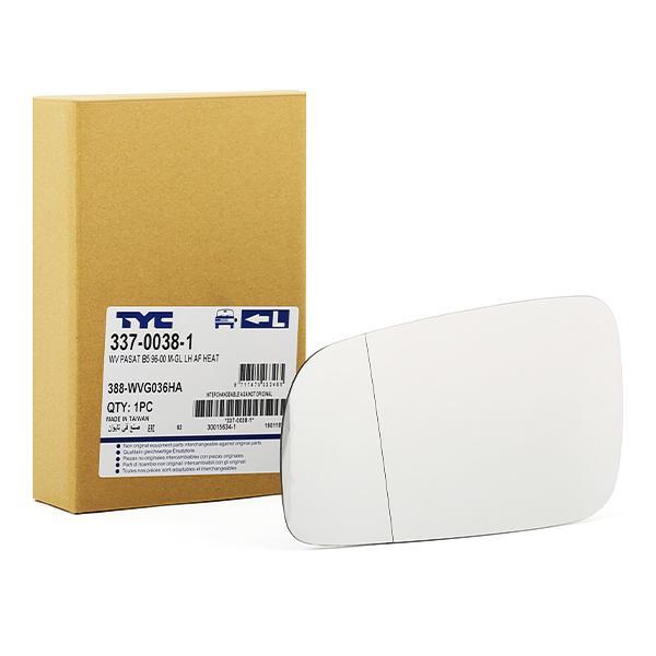 Außenspiegelglas 337-0038-1 TYC 337-0038-1 in Original Qualität