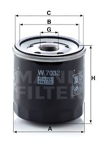 MANN-FILTER W7032 EAN:4011558043179 loja online