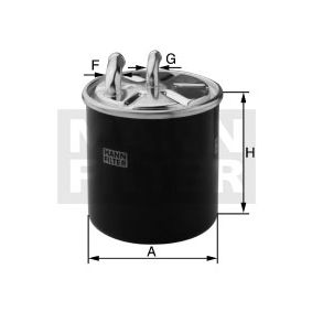 Fuel filter Height: 100mm with OEM Number 6510901652