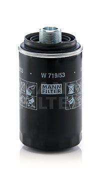 MANN-FILTER  W 719/53 Ölfilter Ø: 76mm, Innendurchmesser 2: 49mm, Innendurchmesser 2: 57mm, Höhe: 143mm