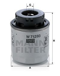 MANN-FILTER W712/93 EAN:4011558041373 magazin online