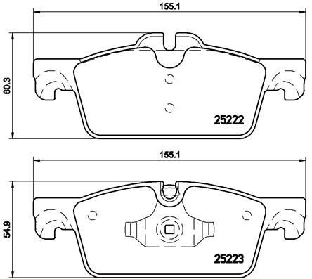 Disk Pads BREMBO P 61 112 8020584108901