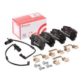 Bremsbelagsatz, Scheibenbremse Breite: 116,6mm, Höhe 1: 59mm, Höhe 2: 60mm, Dicke/Stärke: 15,6mm mit OEM-Nummer 4G0698451H