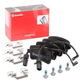 Bremsbelagsatz, Scheibenbremse Breite: 116,6mm, Höhe 1: 59mm, Höhe 2: 60mm, Dicke/Stärke: 17,5mm mit OEM-Nummer 4H0 698 451 D