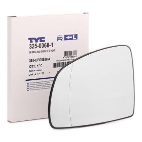 TYC  325-0068-1 Spiegelglas, Außenspiegel