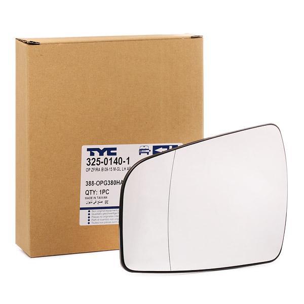Cristal de Espejo Retrovisor 325-0140-1 TYC 325-0140-1 en calidad original