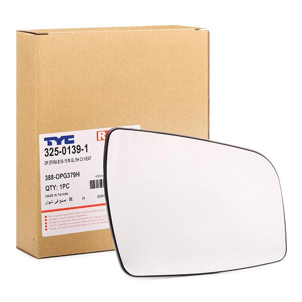 Cristal de Espejo Retrovisor 325-0139-1 TYC 325-0139-1 en calidad original
