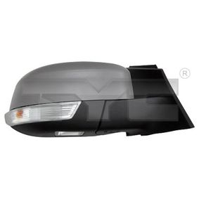 TYC Side view mirror Right, Aspherical, Electronically foldable, for electric mirror adjustment, Heated, with thermo sensor, Primed
