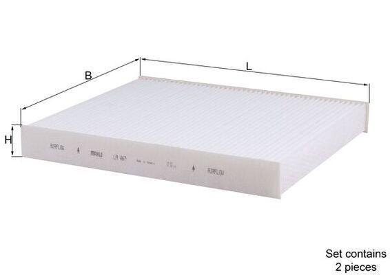 MAHLE ORIGINAL  LA 467/S Filter, Innenraumluft Breite: 207,0mm, Höhe: 30,0mm
