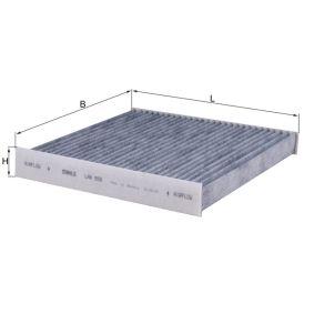 MAHLE ORIGINAL  LAK 859 Filter, Innenraumluft Breite: 214,0mm, Höhe: 30,0mm