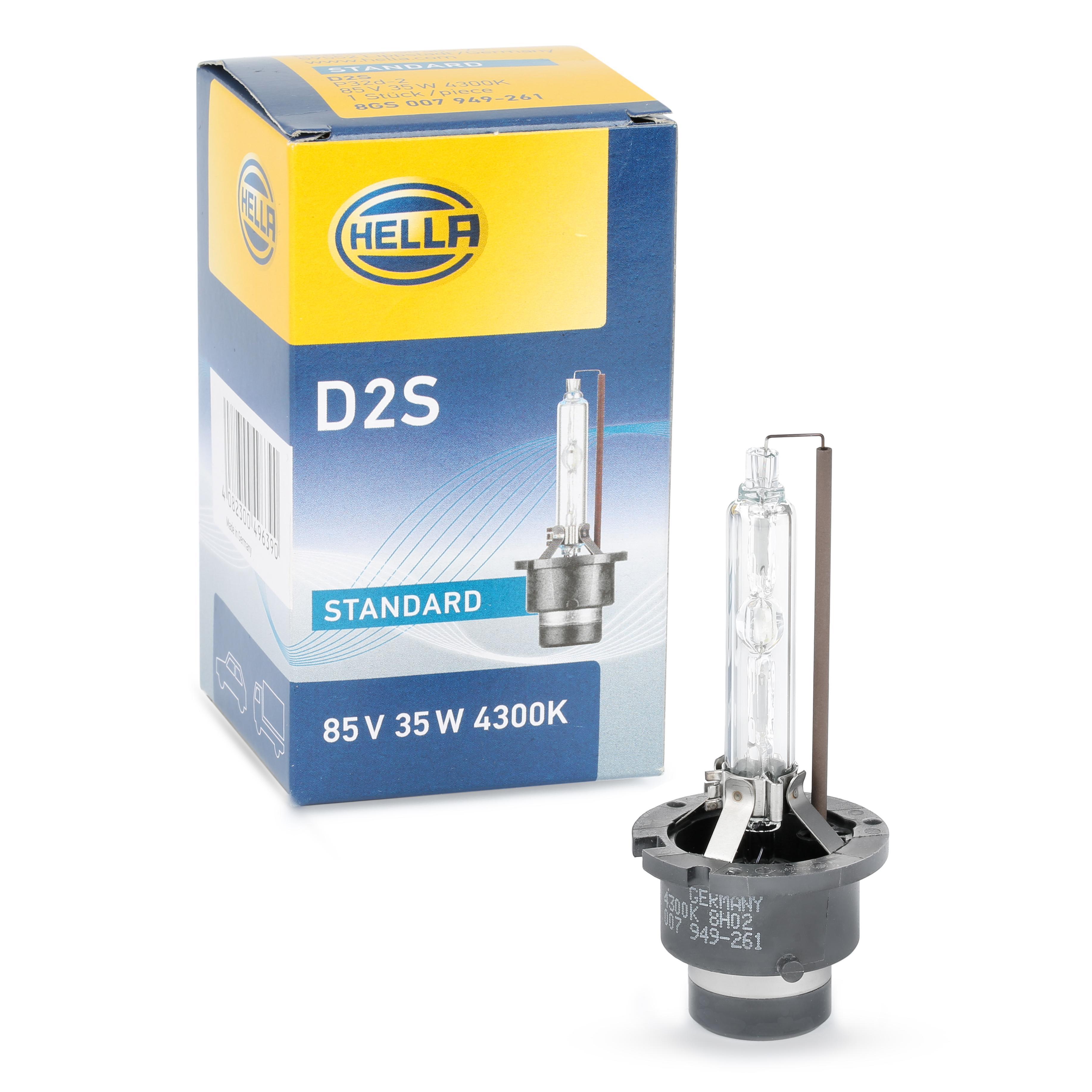 Lámpara, faro de carretera 8GS 007 949-261 HELLA HID2S en calidad original