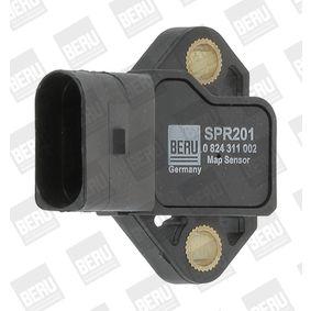 BERU Sensor, Ladedruck SPR201 für AUDI A4 (8E2, B6) 1.9 TDI ab Baujahr 11.2000, 130 PS