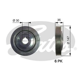 GATES  TVD1101 Belt Pulley, crankshaft