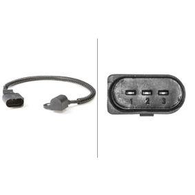 Sensor, posición arbol de levas Número de conexiones: 3, Long. cable: 445mm con OEM número 038957147G