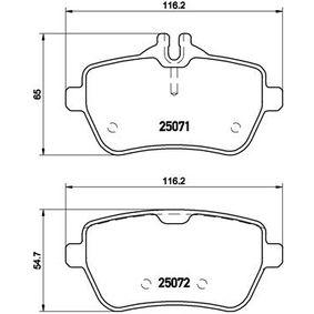 Bremsbelagsatz, Scheibenbremse Breite: 116,2mm, Höhe 1: 54,7mm, Höhe 2: 65mm, Dicke/Stärke: 18,8mm mit OEM-Nummer 008 420 3420