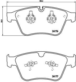 Bremsbeläge P 50 105 BREMBO D12718387 in Original Qualität