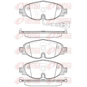 Kit de plaquettes de frein, frein à disque Hauteur: 64,5mm, Épaisseur: 20,4mm avec OEM numéro 8V0-698-151-B