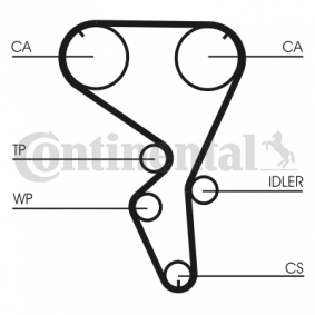 Water pump and timing belt kit Article № CT1101WP1 £ 140,00