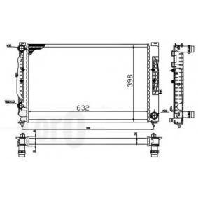 STARK Kühler, Motorkühlung 053-017-0055 für AUDI A6 (4B2, C5) 2.4 ab Baujahr 07.1998, 136 PS