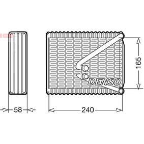 Evaporator, air conditioning DEV09017 PUNTO (188) 1.2 16V 80 MY 2002